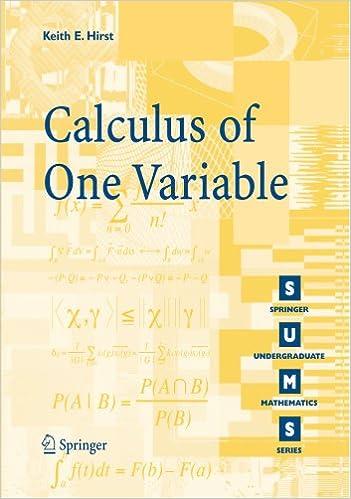 Calculus of One Variable (Springer Undergraduate Mathematics ...