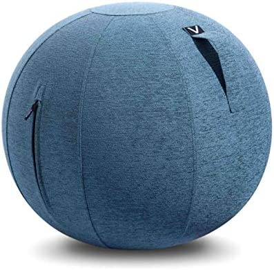 Vivora Luno – Sitting Ball Chair for Office, Dorm, and Home, Lightweight Self-Standing Ergonomic Posture Activating Exercise Ball Solution with Handle & Cover, Classroom & Yoga