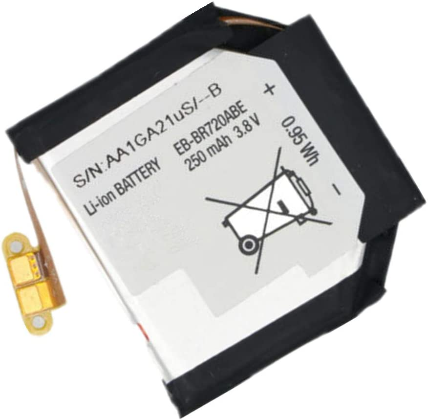 Civhomy Replacement EB-BR720ABE 250mAh Battery for Samsung Gear S2,Gear S2 Classic SM-R720 R720 SmartWatch GH43-04532A 3.8V