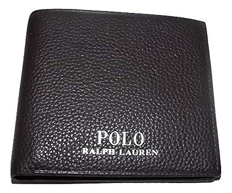 Ralph Lauren Polo Cartera de piel con 8 bolsillos para hombre ...