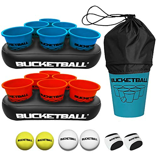 BucketBall - Beach Edition Party Pack - Ultimate Beach, Pool, Yard, Camping, Tailgate, BBQ, Lawn, Water, Indoor, Outdoor Game – Best Gift Toy for Adults, Boys, Girls, Teens, Family