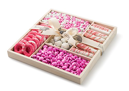 The Nuttery Classic Chocolate and Candy Baby Girl 5 Section Gift Tray