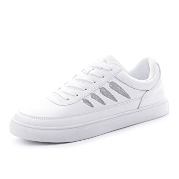 SHI Zapatillas Blancas con Cordones Zapatillas Informales de Mujer Zapatillas Deportivas con Cordones (Color : La Plata, Tamaño : 35): Amazon.es: Hogar