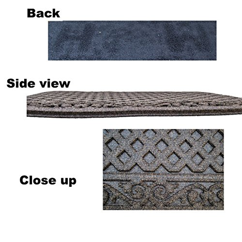 Textures Iron Lattice Entrance Mat, Walnut, 18-Inch By 30-Inch
