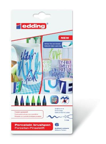 edding 4-4200-6099 Porzellan-Pinselstift edding 4200, 1 - 4 mm, sortiert