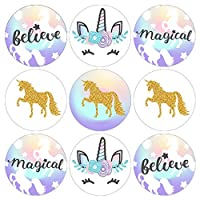 Magical Unicorn Party Favor Stickers - 180 Labels