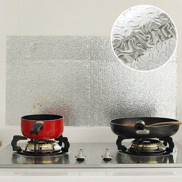 Aluminum Kitchen Wallpaper - Kitchen Aluminum Film Oil Sticker Self Adhesive Anti Oil Kitchen Cabinet Adhesive Wall Paper by DOM - Aluminum Kitchen Wallpaper