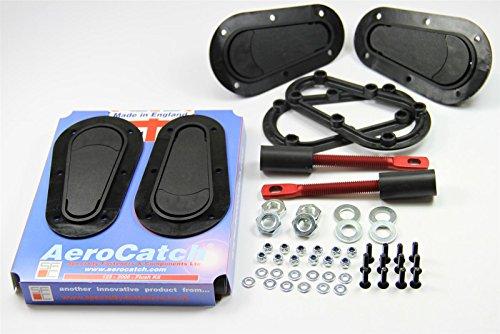 AeroCatch 125-2000 Flush Non-Locking Hood Latch and Pin Kit - Black