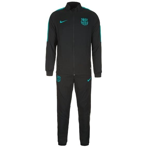 Nike FCB M Nk Dry TRK Suit Sqd W Chándal, Hombre, Negro Black ...