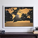 Generic new deluxe travel edition scratch off world map poster lepakshi scratch map travel map personalized deluxe home world map poster vacation national geographic world map gumiabroncs Gallery