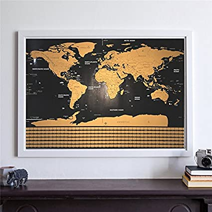Buy lepakshi scratch map travel map personalized deluxe home world lepakshi scratch map travel map personalized deluxe home world map poster vacation national geographic world map gumiabroncs