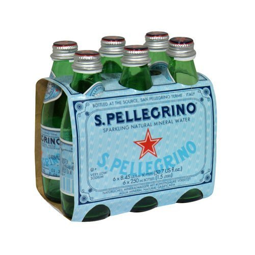 San Pellegrino Sparkling Mineral Water, 8.5 Ounce (24 Glass Bottles) - San Pellegrino Mineral Water