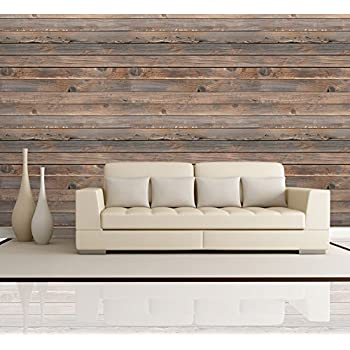 Komar 8 920 8 920 whitewashed wood wall mural wood wall for Removable wallpaper wood paneling