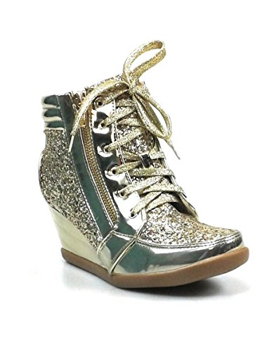Glitter 7 1 Forever Sneakers Womens Fashion Gold 5 Glitter Link E4CrqCfB