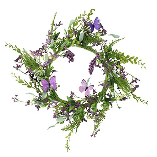 Select Artificials Decorative Mixed Berry and Butterfly Artificial Floral Wreath Unlit 24