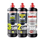 Menzerna Super 3500, Medium 2500, and Heavy 300 Polishing Compound Kit
