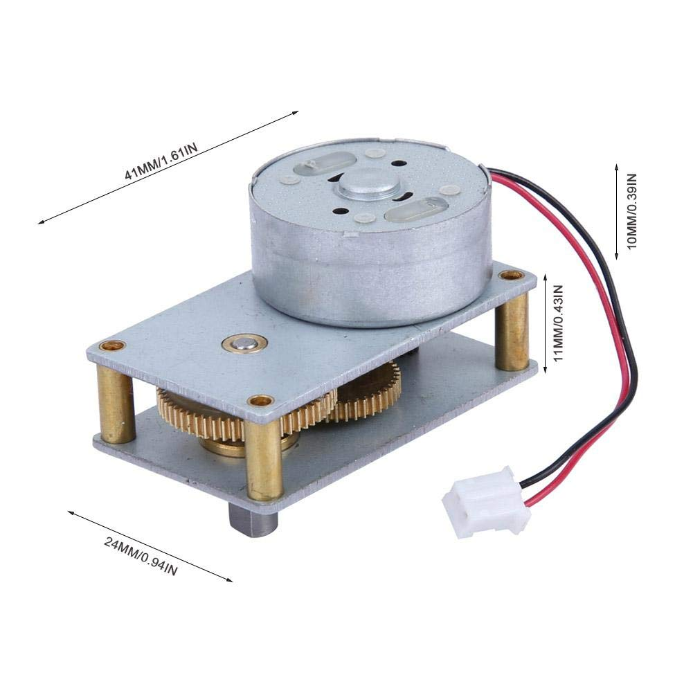 Motor de válvula de zona, motor de caja de engranajes de metal reversible de 3-12 V CC Motor de reducción de velocidad del motor 27 RPM para monitoreo de seguridad de instrumentos