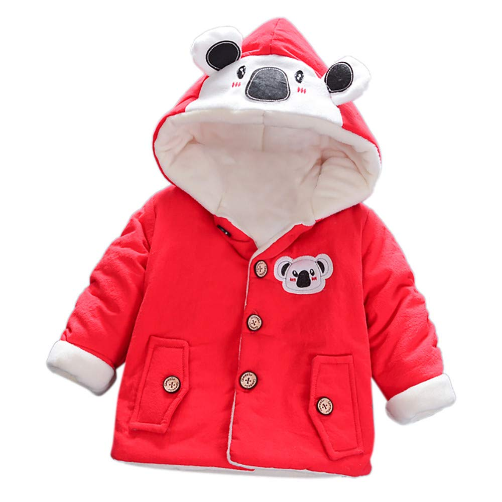 Baby Girl Boy Fleece Hooded Ear Coat, Sdeycui Toddler Winter Thick Cute Bear Jacket wintersd0021