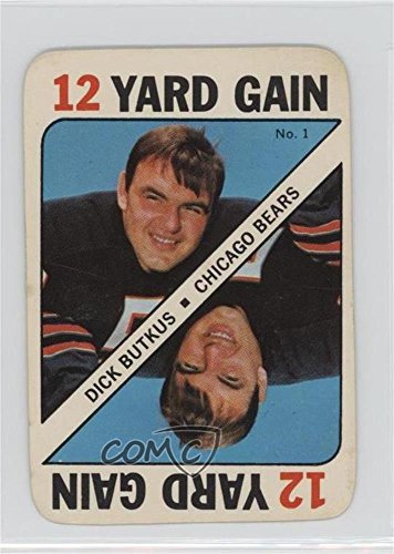 1971 Topps Football Card - Dick Butkus (Football Card) 1971 Topps Game Cards - [Base] #1