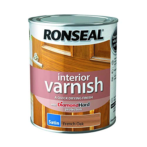 - Ronseal Interior Varnish Quick Dry Satin French Oak 750ml