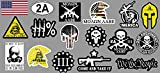 17 pieces SET | 2nd Amendment Molon Labe Spartan 300 | Hard Hat Sticker | Decal | Helmet Label Rude Funny