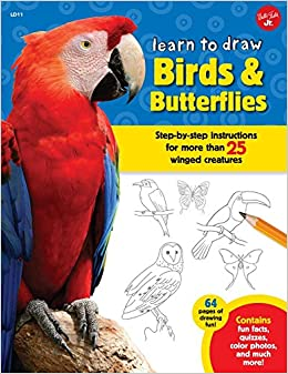 Book Learn to Draw Birds & Butterflies: Step-by-step Instructions for More Than 25 Winged Creatures