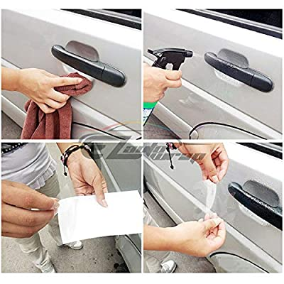 EZAUTOWRAP 1PC 3M Scotchguard Clear Door Cup Handle Paint Scratch Protection Guard Film Bra Vinyl Style 2: Automotive