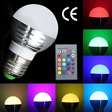 Enjoydeal NEW E27 E26 3W RGB LED Magic Lighting Globe Bulb L& IR Remoter Controller  sc 1 st  Amazon.com & Amazon.com : Enjoydeal NEW E27 E26 3W RGB LED Magic Lighting Globe ... azcodes.com