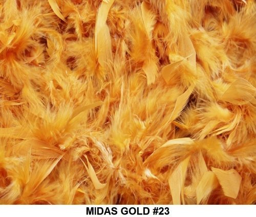 Cozy Glamour Solid Boas 6 Foot Long 50 Gram in a Variety of Shades Great for Parties, Crafts, and Fun! (Midas Gold #23) for $<!--$3.75-->