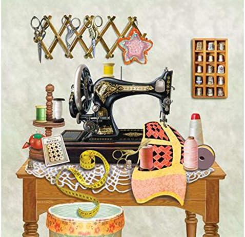L 5D Diamond Kit Mosaico Decoración Para El Hogar Pintura Cinta Métrica Máquina de Coser Bordado de punto de Cruz Artesanías de Regalo 40X50Cm: Amazon.es: Hogar
