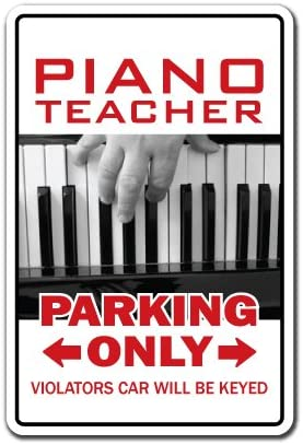 MUSIC TEACHER Sign parking lessons instructor band high middle gift orchestra