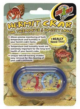 Hermit Crab Dual Thermometer And Humidity Gauge by Zoo Med