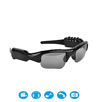 Zgsjbmh Gafas de Ciclismo 1080 P HD Sport DV Gafas Responde un Bluetooth Puede Escuchar música