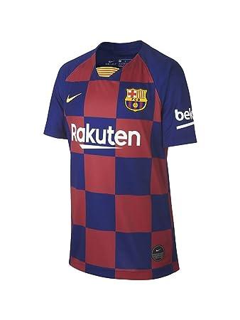 more photos 04046 078df Nike 2019-2020 Barcelona Home Football Soccer T-Shirt Jersey (Kids)