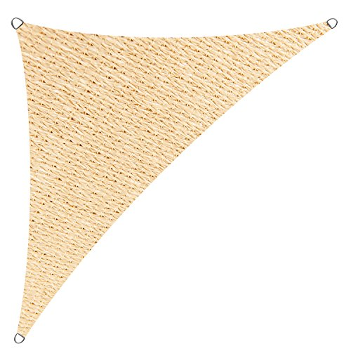 Cool Area Sun Shade Sail for Patio, Outdoor UV Block, Right Triangle 16'5'' X 16'5'' X 22'11'', Sand by Cool Area
