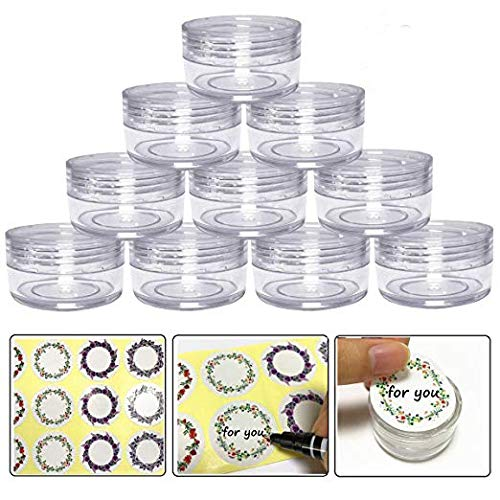 10gram/10ml Round Clear Empty Container Jars with Clear Scre