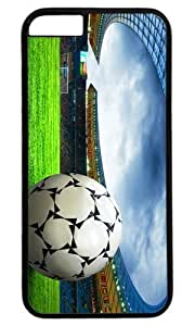 Ball Soccer On the Field DIY Hard Shell Black Best Fashion iphone 6 Plus Case