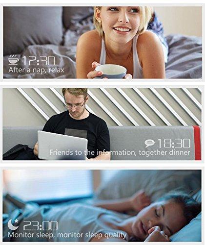 ikevan CF007 LED pantalla táctil reloj inteligente dinámico ...