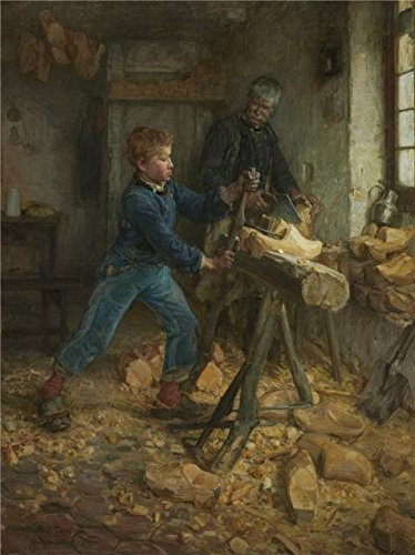 (Oil Painting 'Henry Ossawa Tanner,The Young Sabot Maker,1895' Printing On Perfect Effect Canvas , 18x24 Inch / 46x61 Cm ,the Best Bar Decoration And Home Artwork And Gifts Is This)