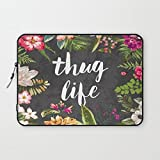T18ager Laptop sleeve 17 inch,Thug Life Water-resistant Neoprene 17-17.3 Inch laptop Sleeve Case Bag Cover for Notebook Computer / Apple MacBook / MacBook Pro (17 inch)