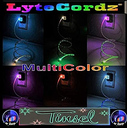 a2e9c0abe LYTECORDZ Multicolor Rainbow Light Up LED Charging Charger Cable Cord Light  UP USB Wall Plug -