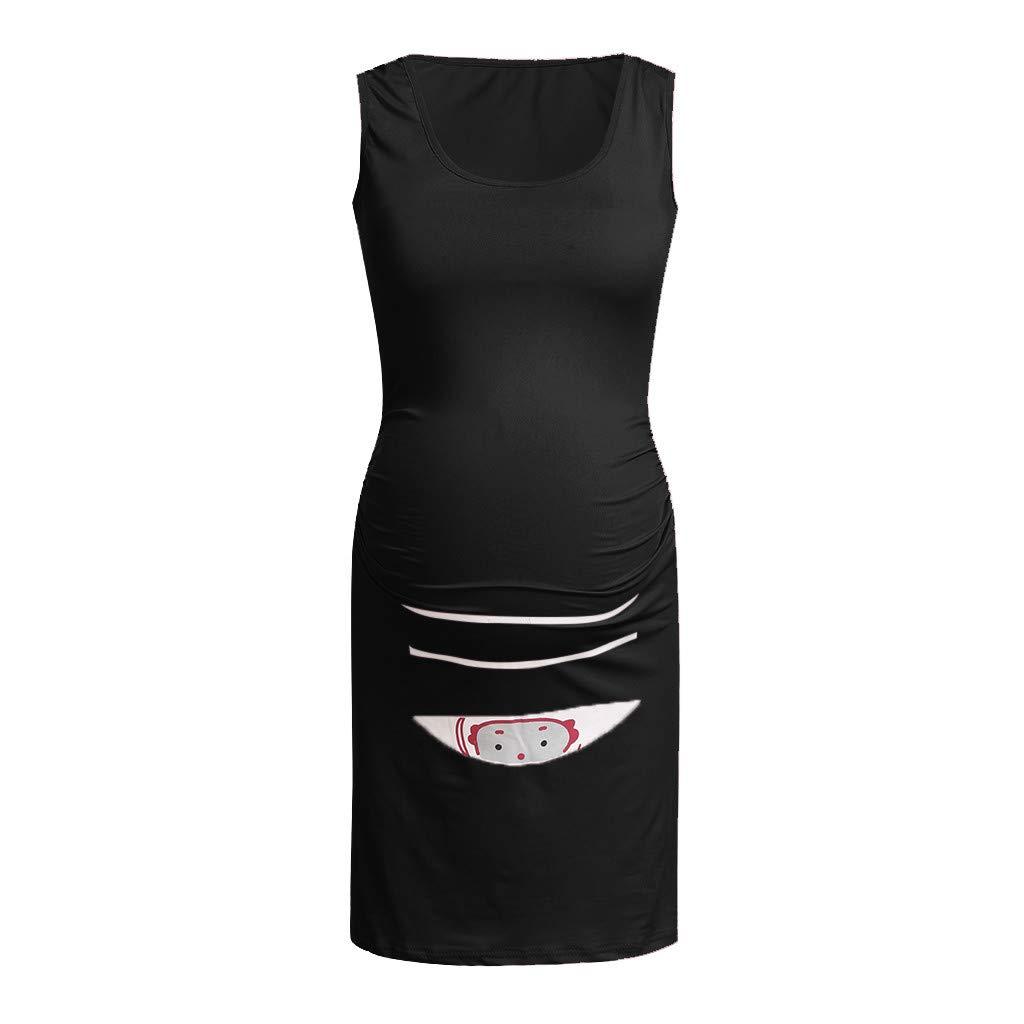 Amazon.com: YKARITIANNA Women Sleeveless Soft Pregnant ...