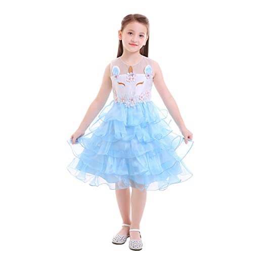 Amazon.com: Kids Unicorn Party Cosplay Princess Birthday Party Dress-up Costume for Baby Girls Pageant Tutu Evening Gowns Fancy Skirt: Clothing