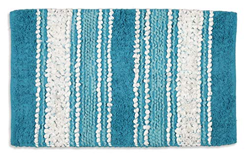 (Chenille Cotton Rug- 20X32 LT.Teal)