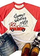 FAYALEQ Happy Valentines Y'all Raglan Long Sleeve Baseball T Shirt Women Funny Top Tees