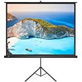 Projector Screen With Stand, TaoTronics Indoor and Outdoor Movie Screen 100 Inch Diagonal 4:3 with a Premium PVC Matte Design (Wrinkle-Free, Easy to Clean, 1.1 Gain, 160 Degree Viewing Angle)
