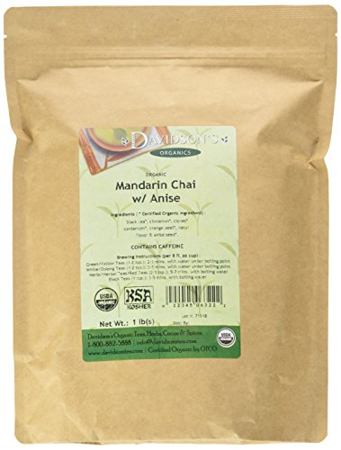 - Davidson's Organic Tea Bulk, Mandarin Chai W / Anise, 16-Ounce Bag
