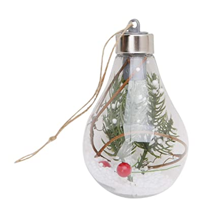 eapts led clear ball christmas tree hanging blub light home holiday ornaments lights b