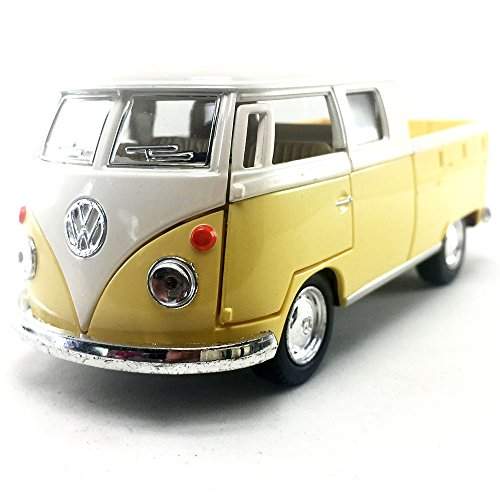 KiNSMART 1963 Volkswagen VW Classical Bus Double CAB Pick Up 1:34 DieCast Model Toy Car Collectible