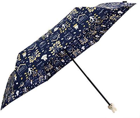 miffy(ミッフィー) 折りたたみ傘 手開き 総柄 折ミニ傘 ネイビー 55cm